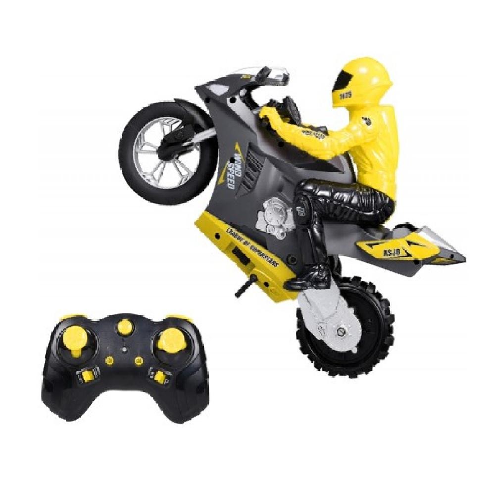 Радиоуправляемый мотоцикл (дрифт, GYRO, 1:6) 2.4G – HC-801-YELLOW