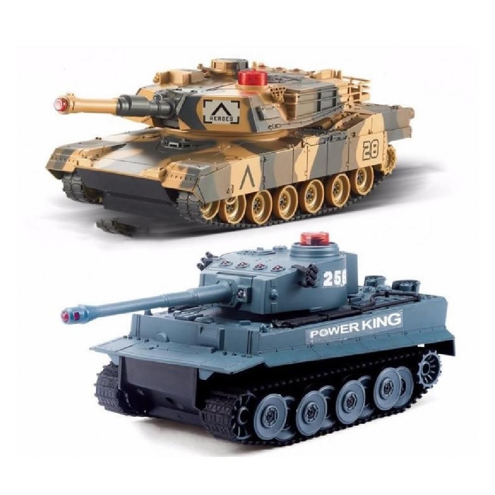 Радиоуправляемый танковый бой Huan QI Tiger vs Leopard 1:28 2.4G