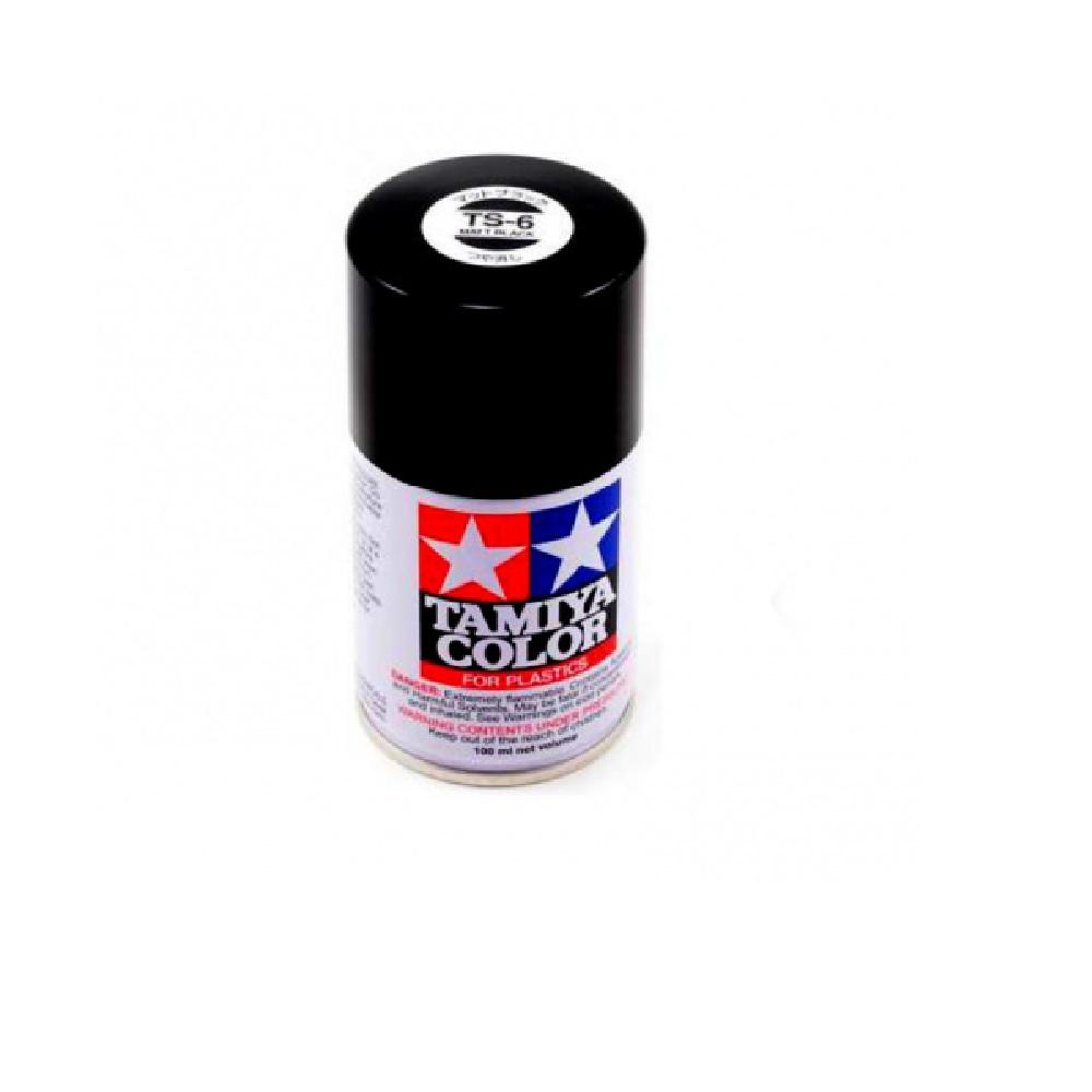 TS-6  Чёрная матовая краска-спрей 100 мл.