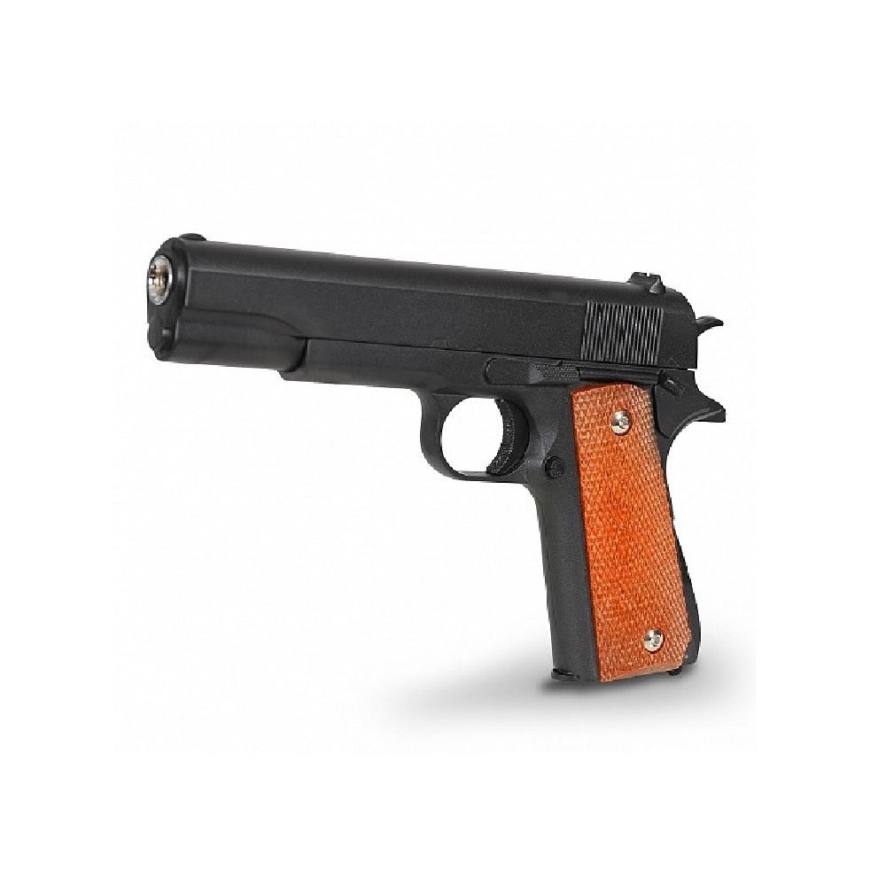 Пистолет металлический Colt 1911 с кобурой (пневматика, 21,5 см)