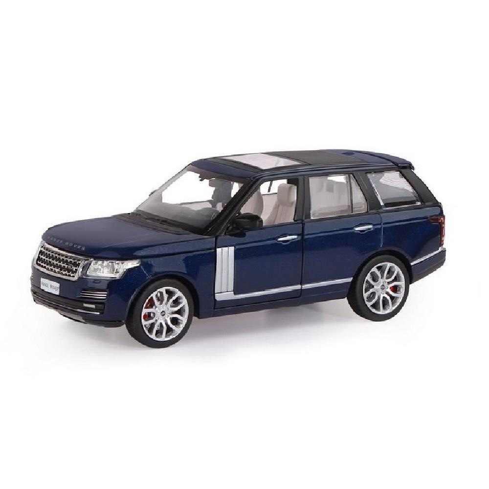 """Машина """"АВТОПАНОРАМА"""" Range Rover, синий металлик, 1/26, свет, звук"""