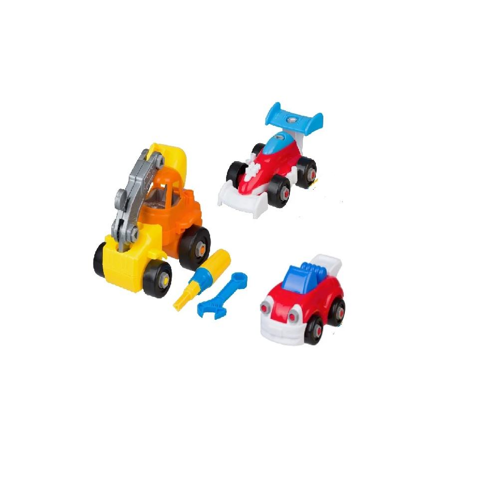 Набор пластмассовых деталей для сборки авто, гоночный кара, экскаватора