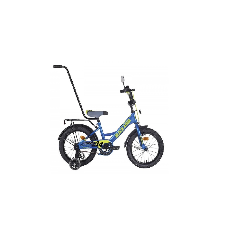 Детский  Велосипед BlackAqua Fishka 14″, с ручкой, MATT